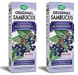 Nature's Way Original Sambucus Elderberry Syrup, Herbal Supplements, Gluten Free, Vegetarian, 8 Ounce Pack of 2