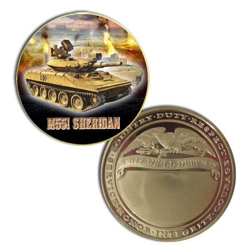 M551 Sheridan Printed Challeng Coin for sale  Delivered anywhere in USA