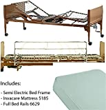 Invacare 5310IVC, 6629, 5185 Semi Electric Homecare Bed, Semi Electric Bed, 5310 IVC with Innerspring Mattress, 5185 and Full Length Rails, 6629