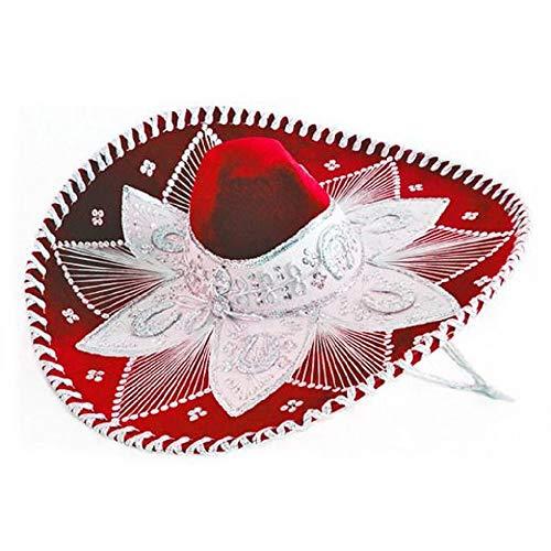 Red and White Mariachi Sombrero -