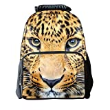 TomYork Christmas Printed Zipper Casual Canvas Backpack (Animal 3)
