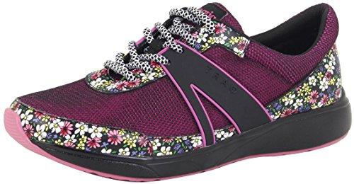 TraQ by Alegria Womens Qarma Walking Shoe, Wild Flower, Size 38 EU (8-8.5 M US Women)