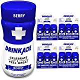 Cheap DrinkAde Boost (24 Pack of 3.4 oz Bottles) – Previously Never Too Hungover with Caffeine, Double B-12 – Sugar Free, Gluten Free, Carb Free & Low Calorie.
