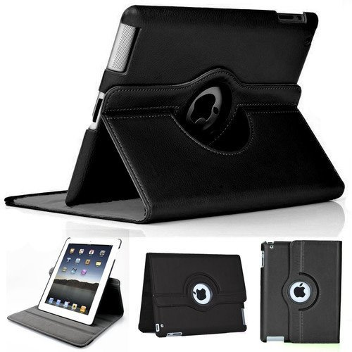 2010KHARDIO AE 360 Rotating PU Leather Case Cover for Apple ipad 2 3 ipad 4 Black (B00UXEDDBG) Amazon Price History, Amazon Price Tracker