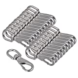 Yibuy 20 x Silver 304 Stainless Steel Size 0# Boat Swivel Snap Hook for M3/M4 Chain
