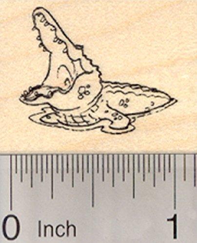 Crocodile Rubber Stamp, Small