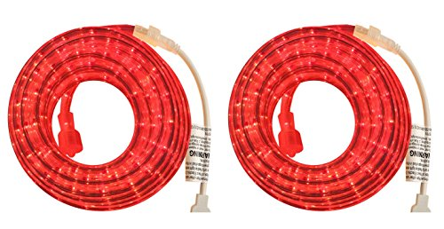 PERSIK 18 Feet RED Rope Light for Indoor and Outdoor use - Pack of 2 (Total 36 Feet Length) -
