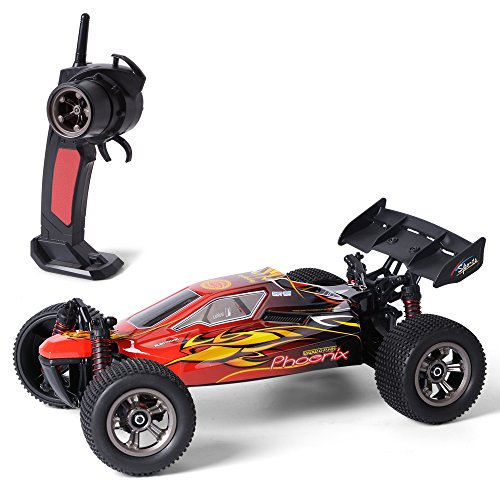GPTOYS S915 RC Car 18+Mph 2.4Ghz Remote Control Car 1:12 Scale 2WD Waterproof Off-road Monster Truck-Best Gift for Kids and Adults (Red)