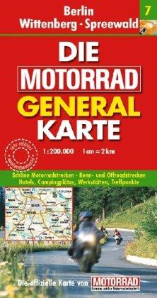 Motorrad Generalkarte Deutschland Berlin, Wittenberg, Spreewald 1:200 000