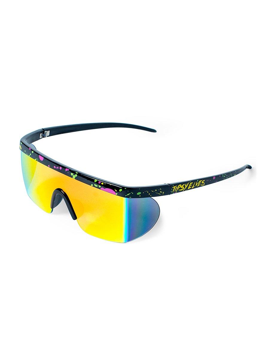 Performance Style Neon Hundo P. Reflective Sunglasses by Tipsy Elves