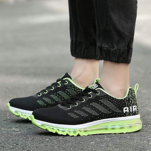 Sport Fitness Baskets Noir Multicolore Sneakers Femme Vert Chaussures Respirante Running Homme Air Gym Style TqYRTHa