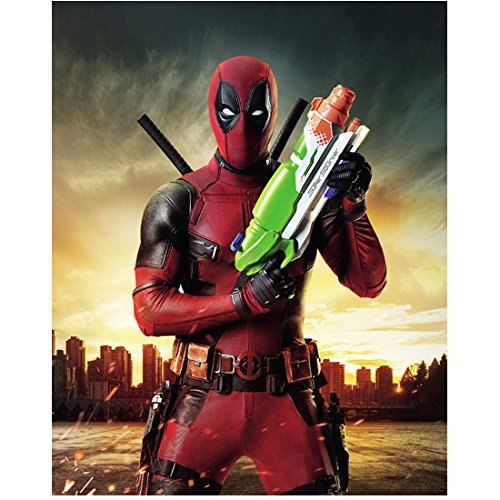Deadpool Ryan Reynolds as Deadpool with Nerf gun 8 x 10 Inch Photo at  Amazon's Entertainment Collectibles Store