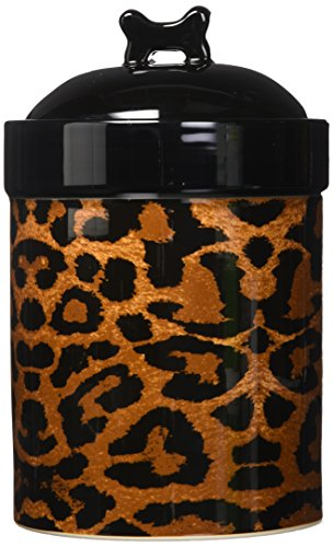 PetRageous Leopard Treat Jar for Pets, 8-Inch