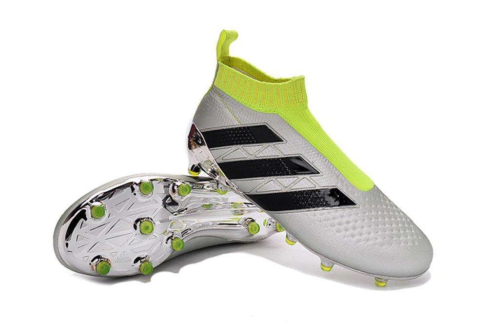 Demonry Schuhe Herren Fußball CE 16 + purecontrol Silber Fußball Stiefel