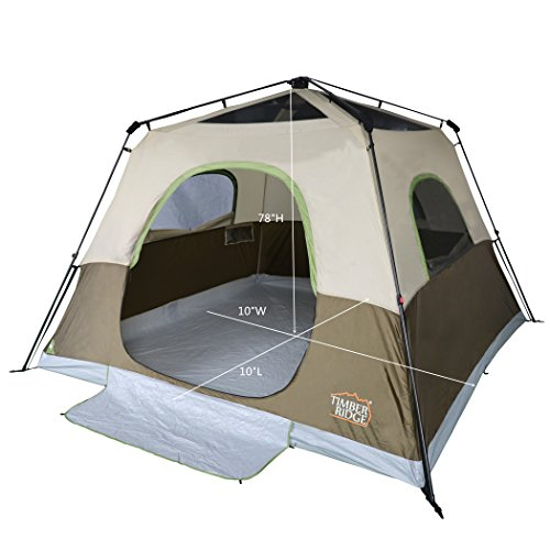 a4d9f577e65 Timber Ridge 6-Person Family Camping Tent Instant Cabin With Rainfly for  Outdoor