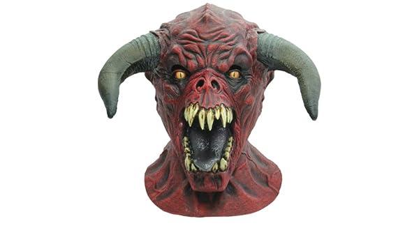 Máscara de toro rojo adulto Halloween - Única: Amazon.es: Juguetes y juegos
