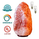 Authentic Himalayan Salt Lamp - Natural Pink Crystal Rock Natural Air Purifier with Negative Ion Glow Home Decor   Large 7-9 lbs,6-9'' Height   Safety UL Listed Dimmer Switch