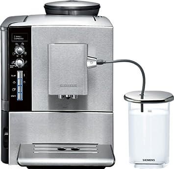Siemens TE509501DE EQ.5 steelEdition - Cafetera automática, 1600 W, 1.7 L, sistema externo para leche, color plateado: Amazon.es: Hogar