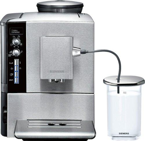 Siemens TE509501DE EQ.5 steelEdition - Cafetera automática, 1600 W, 1.7 L, sistema externo para leche, color plateado
