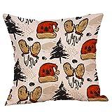Christmas Flax Sofa Car Home Pgojuni Waist Cushion Cover Throw Pillow Cover Sofa/Couch 1pc (E)