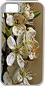 Blueberry Design iPhone 5 iPhone 5S Case romantic white Leaves - Ideal Gift