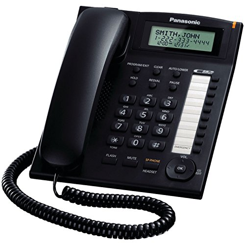 Corded Telephone Headset Jack - Panasonic KX-TS880B Integrated Corded Telephone