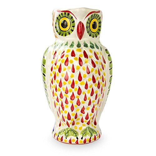 NOVICA Multicolor Animal Themed Ceramic Pitcher, 40 oz. 'Happy Little (Novica Ceramic Pitcher)