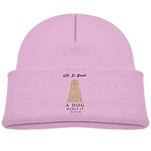 Life Is Good Toddler Hat - Banana King Life is Good A Dog Makes It Better Baby Beanie Hat Toddler Winter Warm Knit Watch Cap for Kids Pink