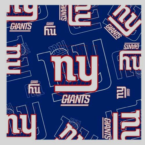 NFL New York Giants Logo & Symbol Blue Silk Scarf Polyester New With Tags ()