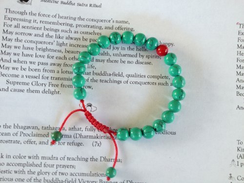 / Bracelet for Meditation Coral Spacer ()
