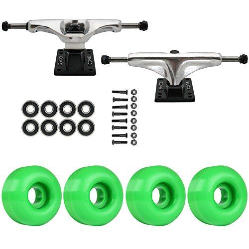 メンダシティサリーゴージャススケートボードパッケージCoreシルバー5.25 Trucks 50 MmケリーグリーンABEC 7 Bearings
