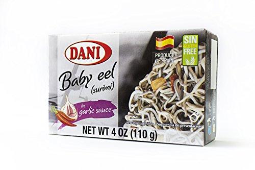 Dani Baby Eel ( Surimi ) in Garlic Sauce ( Gulas/Surimi) Canned 4 oz ( 110 ()