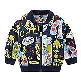 Fineser Stylish Kids Baby Boys Outerwear Coat Jacket Boys Children Winter Clothing Cute Monster Letter Print 1-5T (Navy, 2-3 Years(110))