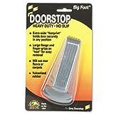 """Tools & Hardware : Big Foot Doorstop, 4-3/4"""" x 2-1/4"""" x 1-1/4"""", Gray, 1/Pack (00941)"""