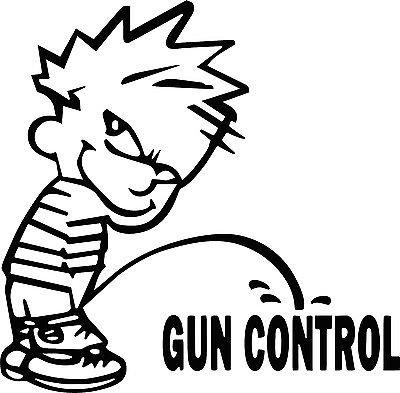 Trailer Costumes Boys Diy Park (Piss on Gun Control Vinyl StickerTruck Car SUV Window Trailer)
