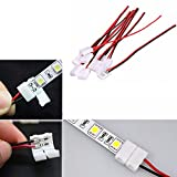 1pcs/10pcs 8mm/10mm PCB Cable 2 Pin LED Strip Connector 3528/5050 Single Color Adapter