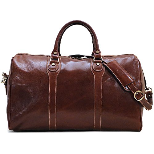 Floto Luggage Milano Duffle Bag, Vecchio Brown, One Size by Floto