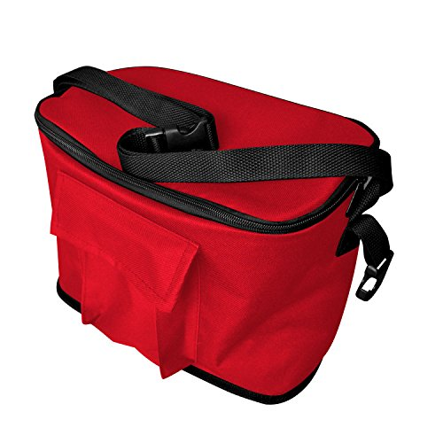 RED PUSH HANDLE AND REAR FOOT BRAKE FOLDING STROLLER WAGON OUTDOOR SPORT COLLAPSIBLE BABY TROLLEY W/ CANOPY GARDEN UTILITY SHOPPING TRAVEL CART - EASY SETUP NO TOOL NECESSARY by WagonBuddy by WagonBuddy (Image #1)