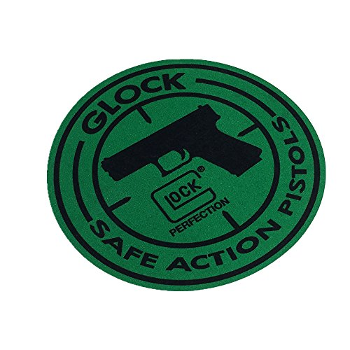 Car Sticker Motorcycle Decals Vinyl Reflective for Glock G18 LOCK SAFE ACTION PISTOLS 9x9cm (black green) (Glock Pistol Stickers)