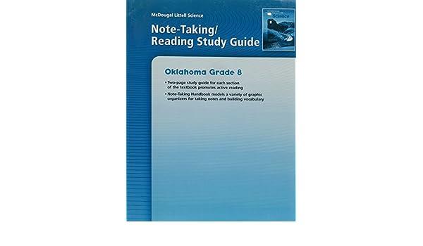 McDougal Littell Science Oklahoma Note Taking Reading Study