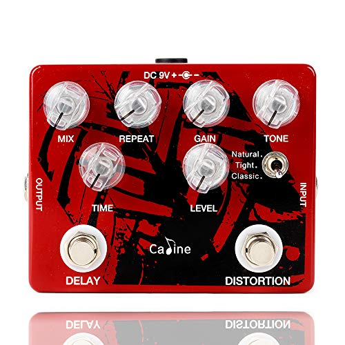 Caline Pedals CP-68 Electric Guitar Effects Analog Digital Delay Multi Distortions Pedal Red Guitarists Gifts (Best Analog Distortion Pedal)