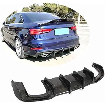 Amazon.com: MCARCAR KIT Rear Diffuser fits Audi A3 S-line