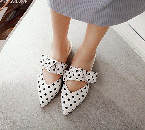 Mee Shoes Women's Cute Bow Upper Block Heel Slippers Black dAktqtSm