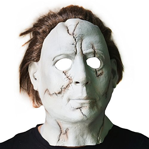 Hongzhi Craft Halloween Movie Michael Myers Mask with Wig Adult