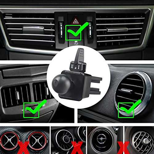 EXSHOW Universal 360 Rotate Car Air Vent Phone Cradle Mount for all 3.5-6 inches Cellphones Including but not Limited iPhone SE/5/6s/7/8/8plus/X,Samsung series and Most Smartphones(Black) by EXSHOW (Image #5)