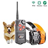 Aetertek AT-216D Professional Rechargeable 600 Yard Remote Dog Training Shock Collar,Beep ,Vibrate and 7 Levels Adjustable (Two dogs training system)