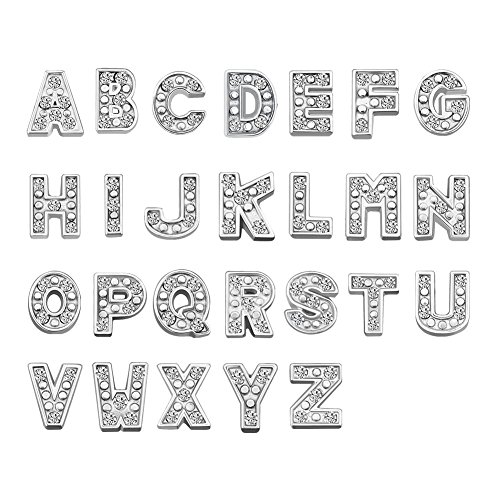 Corykeyes 26pcs A-Z Alphabet Letter Floating Charms Set For Glass Livng Memory Locket -