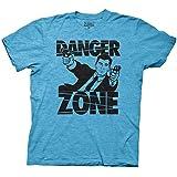 Ripple Junction Archer Danger Zone Adult Sized Soft Blue T-Shirt (L, Turquoise)