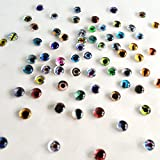 Bulk Lot of 20 6mm Random Overstock Glass Doll Eyes (10 Matching Pairs)