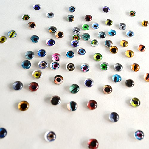Bulk Lot of 20 6mm Random Overstock Glass Doll Eyes (10 Matching ()
